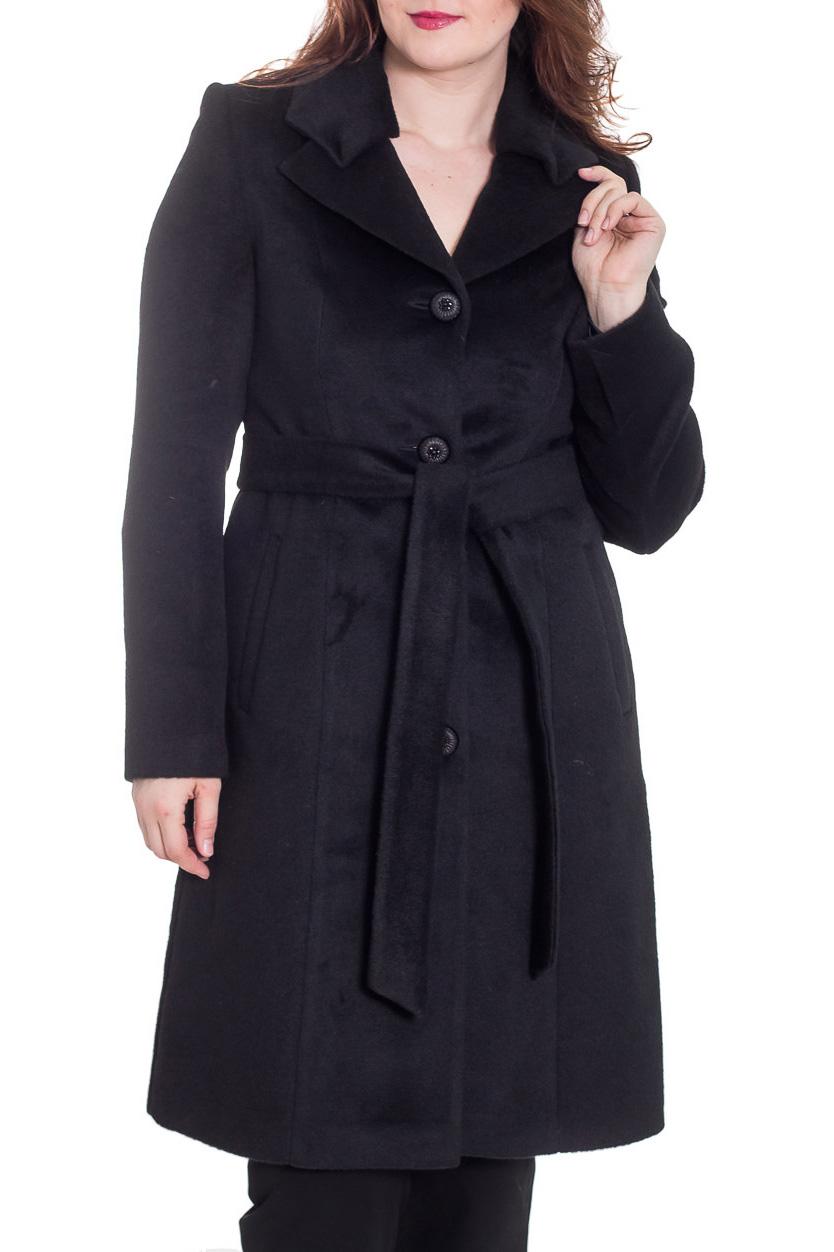 ПальтоПальто<br>Демисезонное пальто полуприталенного силуэта, длинной ниже колена, с карманами, застежка на пуговицы. Ростовка изделия 170 см. Пальто без пояса.  Цвет: черный  Рост девушки-фотомодели 180 см.<br><br>По образу: Город<br>По стилю: Повседневный стиль,Классический стиль,Офисный стиль<br>По материалу: Пальтовая ткань,Шерсть<br>По рисунку: Однотонные<br>По сезону: Осень,Весна<br>По силуэту: Полуприталенные<br>По длине: Ниже колена<br>Воротник: Отложной<br>Рукав: Длинный рукав<br>Горловина: V- горловина<br>Застежка: С пуговицами<br>Размер: 48,52,54<br>Материал: 45% шерсть 30% мохер 25% полиамид<br>Количество в наличии: 3