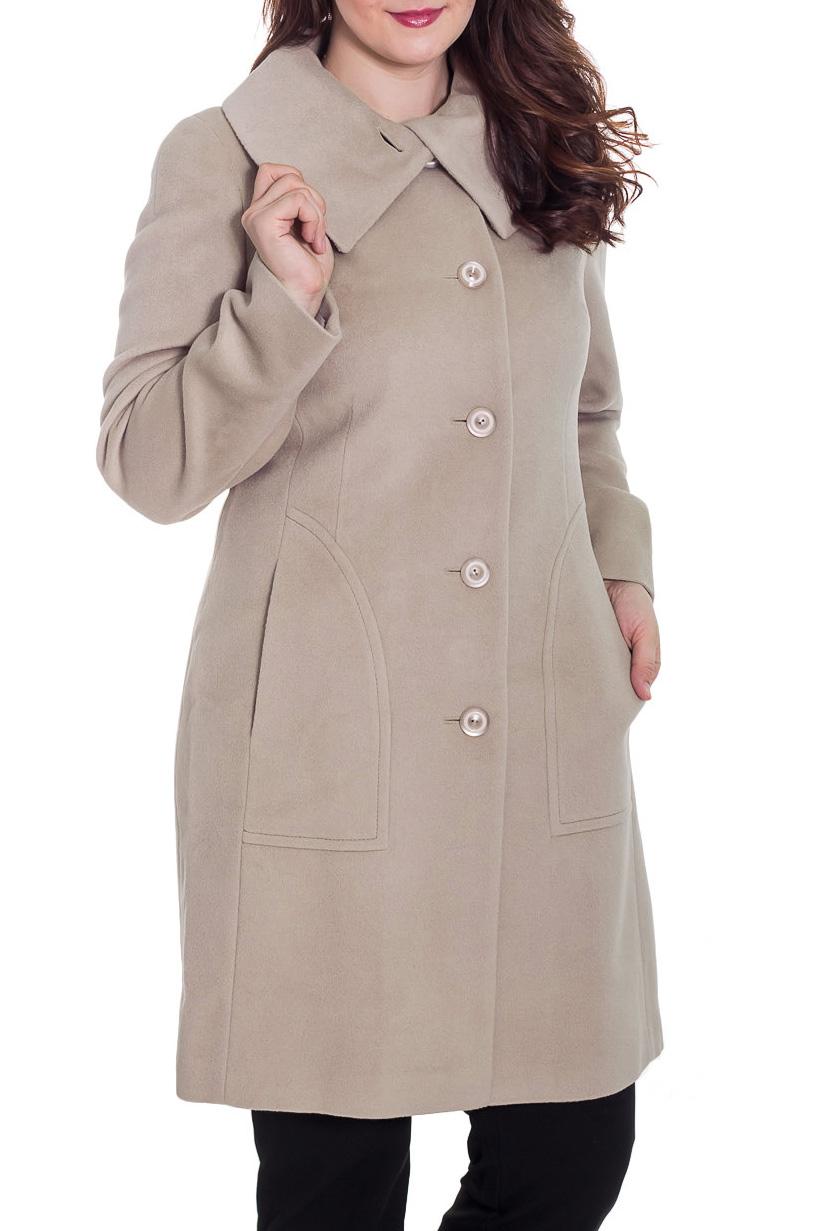 ПальтоПальто<br>Демисезонное пальто приталенного силуэта, длинной ниже колена, с карманами, застежка на пуговицы. Ростовка изделия 170 см.  Цвет: бежевый  Рост девушки-фотомодели 180 см.<br><br>Воротник: Отложной<br>Застежка: С пуговицами<br>По длине: Ниже колена<br>По материалу: Пальтовая ткань,Шерсть<br>По рисунку: Однотонные<br>По силуэту: Приталенные<br>По стилю: Классический стиль,Офисный стиль,Повседневный стиль<br>По элементам: С карманами<br>Рукав: Длинный рукав<br>По сезону: Осень,Весна<br>Размер : 42,46,50<br>Материал: Пальтовая ткань<br>Количество в наличии: 3