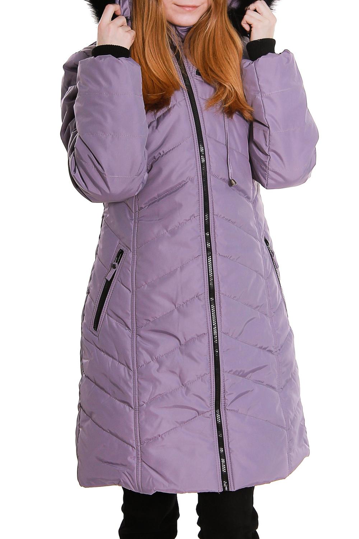 ПальтоКуртки<br>Зимнее пальто полуприталенного силуэта, длинной до колена, с карманами, застежка на молнию. Модель с капюшоном.  В изделии использованы цвета: сиреневый, черный  Ростовка изделия 170 см.<br><br>Воротник: Стойка<br>Застежка: С молнией<br>По длине: Средней длины<br>По материалу: Тканевые<br>По рисунку: Однотонные<br>По силуэту: Полуприталенные<br>По стилю: Повседневный стиль<br>По элементам: С капюшоном,С карманами<br>Рукав: Длинный рукав<br>По сезону: Зима<br>Размер : 42,44<br>Материал: Болонья<br>Количество в наличии: 2