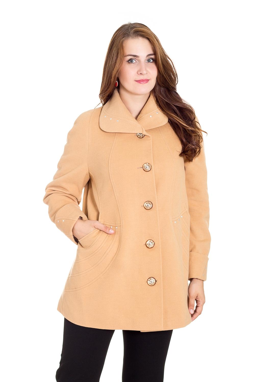 ПальтоПальто<br>Демисезонные женские пальто – это отличный выбор для весны и осени. Теплые и уютные изделия создадут невероятно стильный, утонченный и женственный образ.  Пальто с длинными рукавами и стояче-отложным воротником. Застежка - пуговицы.  Цвет: бежевый.  Рост девушки-фотомодели 180 см<br><br>Воротник: Стояче-отложной<br>Застежка: С пуговицами<br>По длине: До колена,Короткие<br>По материалу: Пальтовая ткань,Шерсть<br>По образу: Город<br>По рисунку: Однотонные<br>По силуэту: Полуприталенные<br>По стилю: Классический стиль,Кэжуал,Офисный стиль,Повседневный стиль<br>По элементам: С воротником,С декором,С карманами,С манжетами,С отделочной фурнитурой<br>Рукав: Длинный рукав<br>По сезону: Осень,Весна<br>Размер : 48,50,56,58,60<br>Материал: Пальтовая ткань<br>Количество в наличии: 6