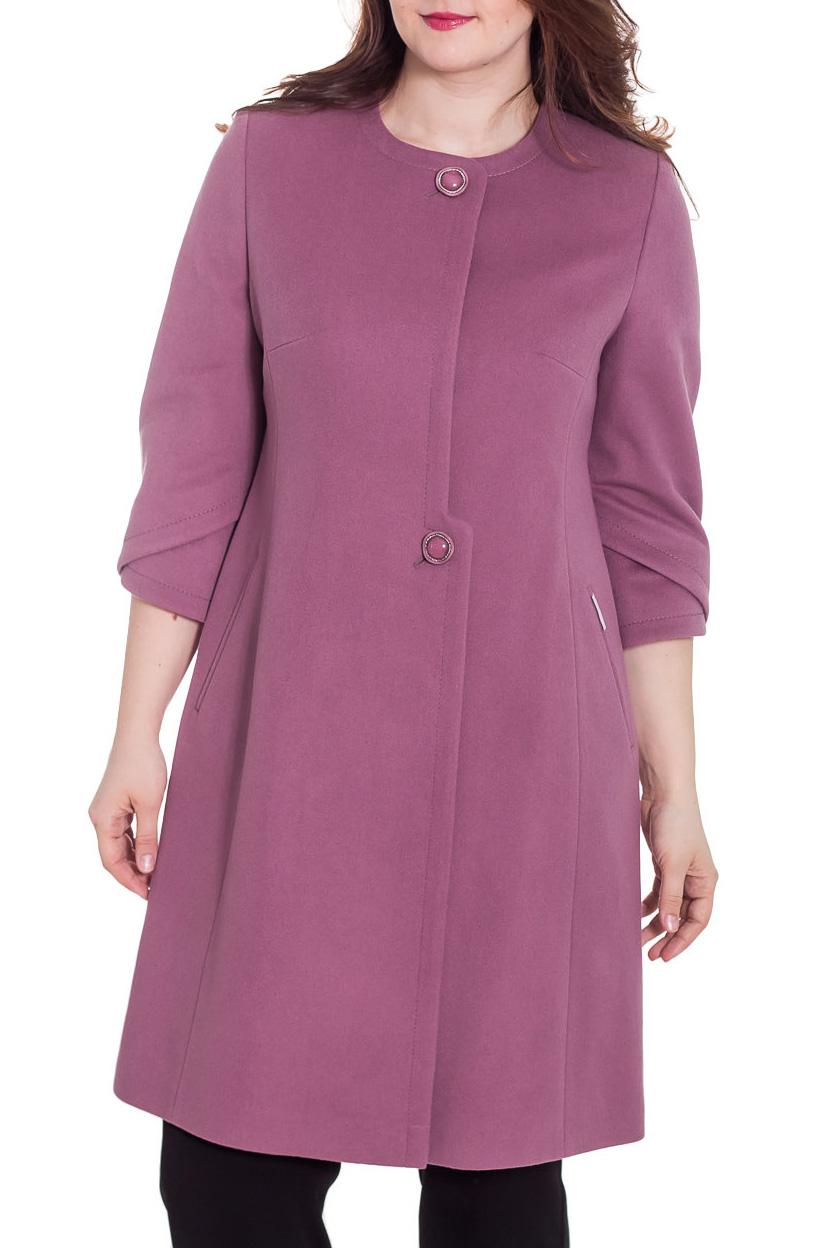 ПальтоПальто<br>Демисезонное пальто полуприталенного силуэта, длинной выше колена, с карманами и застежкой на пуговицы. Пальто будет отлично смотреться с удлиненными перчатками.  Цвет: розово-фиолетовый  Ростовка изделия 164 см.  Рост девушки-фотомодели 180 см<br><br>Горловина: С- горловина<br>Застежка: С пуговицами<br>По длине: До колена<br>По материалу: Пальтовая ткань,Шерсть<br>По образу: Город<br>По рисунку: Однотонные<br>По силуэту: Приталенные<br>По стилю: Повседневный стиль<br>По элементам: С карманами<br>Рукав: Рукав три четверти<br>По сезону: Осень,Весна<br>Размер : 44<br>Материал: Пальтовая ткань<br>Количество в наличии: 1