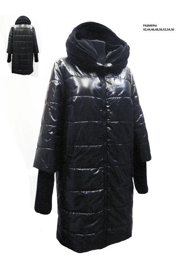 ПальтоКуртки<br>Зимнее пальто прямого силуэта, длинной до колена, с карманами, застежка на молнию. Модель с трикотажными манжетами.  Цвет: черный  Рост девушки-фотомодели 180 см<br><br>Застежка: С молнией<br>По длине: Средней длины<br>По материалу: Тканевые<br>По рисунку: Однотонные<br>По сезону: Осень,Зима<br>По силуэту: Прямые<br>По стилю: Повседневный стиль<br>По элементам: С карманами<br>Рукав: Длинный рукав<br>Размер : 42,44,46<br>Материал: Болонья<br>Количество в наличии: 3