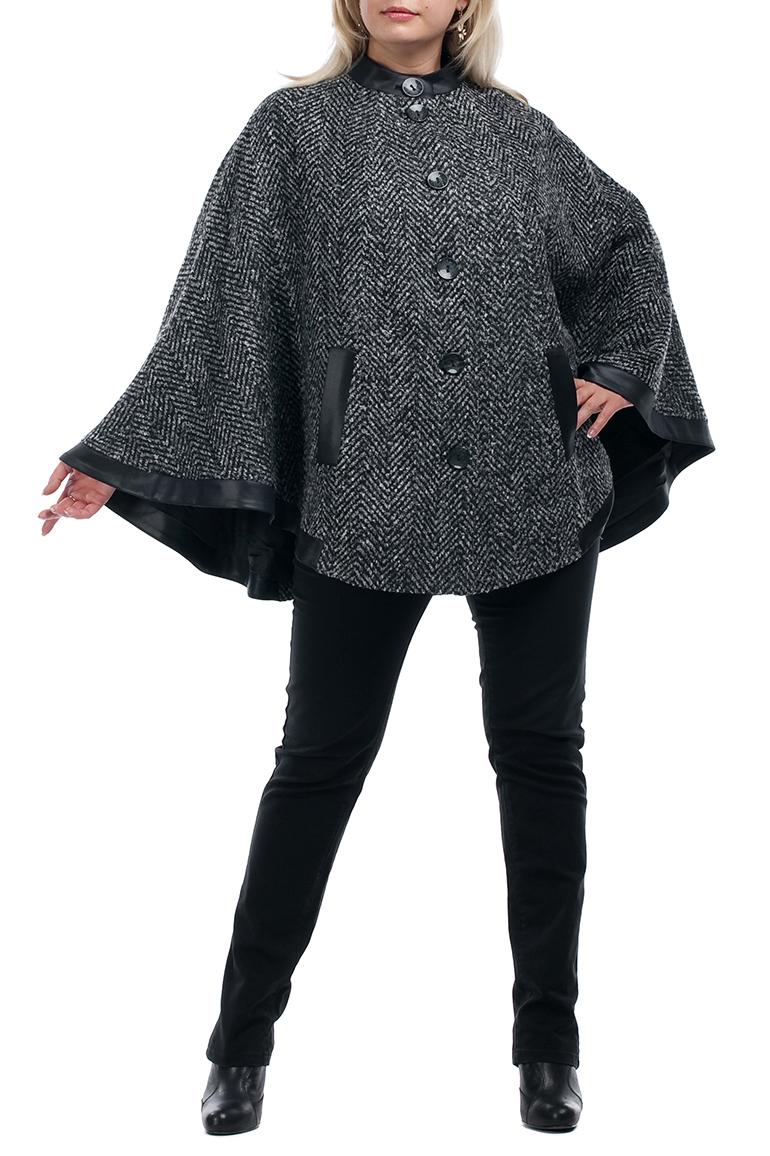 ПальтоПальто<br>Удобное пальто свободного силуэта. Модель выполнена из натуральной шерсти. Отличный выбор для повседневного гардероба.  В изделии использованы цвета: серый, черный  Рост девушки-фотомодели 173 см<br><br>Воротник: Стойка<br>Застежка: С пуговицами<br>По длине: До колена<br>По материалу: Шерсть<br>По образу: Город<br>По рисунку: Цветные<br>По силуэту: Свободные<br>По стилю: Повседневный стиль<br>По элементам: С карманами<br>Рукав: Длинный рукав<br>По сезону: Осень,Весна<br>Размер : 70<br>Материал: Пальтовая ткань<br>Количество в наличии: 1