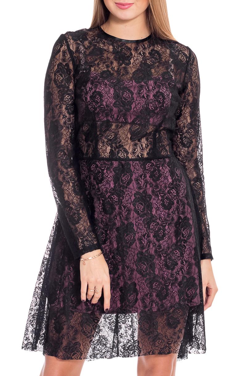 ПлатьеПлатья<br>Кружевное коктейльное платье из чёрного гипюра. Внутренний слой из розового  трикотажа. Платье подходит для праздника, корпоратива, романтической прогулки. Ассиметричная юбка сзади в складку.   В изделии использованы цвета: черный, розовый  Рост девушки-фотомодели 170 см<br><br>Горловина: С- горловина<br>По длине: До колена<br>По материалу: Гипюр<br>По рисунку: Цветные<br>По сезону: Весна,Зима,Лето,Осень,Всесезон<br>По силуэту: Полуприталенные<br>По стилю: Готический стиль,Молодежный стиль,Нарядный стиль,Вечерний стиль<br>По форме: Платье - трапеция<br>По элементам: С декором,С подкладом<br>Рукав: Длинный рукав<br>Размер : 44,46,48<br>Материал: Холодное масло + Гипюр<br>Количество в наличии: 6