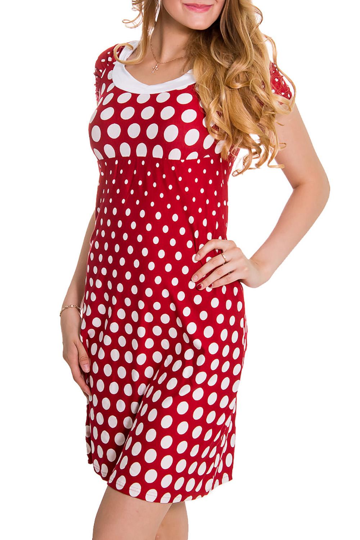 ПлатьеПлатья<br>Хлопковое платье с круглой горловиной и короткими рукавами. Домашняя одежда, прежде всего, должна быть удобной, практичной и красивой. В наших изделиях Вы будете чувствовать себя комфортно, особенно, по вечерам после трудового дня.В изделии использованы цвета: красный, белыйРост девушки-фотомодели 176 см<br><br>Горловина: С- горловина<br>Рукав: Короткий рукав<br>Длина: До колена<br>Материал: Трикотаж,Хлопок<br>Рисунок: В горошек,С принтом,Цветные<br>Сезон: Весна,Всесезон,Зима,Лето,Осень<br>Силуэт: Полуприталенные<br>Форма: Домашние платья<br>Размер : 44,46<br>Материал: Трикотаж<br>Количество в наличии: 2