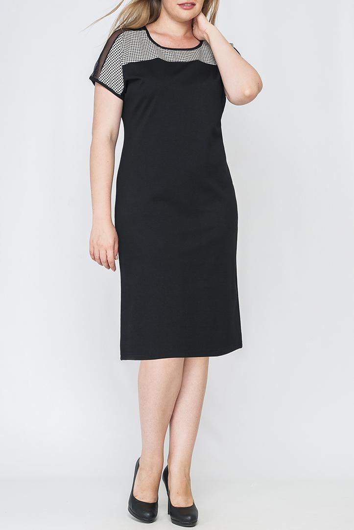 ПлатьеПлатья<br>Прекрасное женское платье с круглой горловиной и короткими рукавами. Модель выполнена из приятного трикотажа. Отличный выбор для повседневного и делового гардероба.  Цвет: черный, белый  Параметры изделия: 44 размер: полуобхват по линии бедра - 49,5 см, длина изделия по спинке - 92 см;  52 размер: полуобхват по линии бедра - 59,5 см, длина изделия по спинке - 96 см.  Рост девушки-фотомодели 170 см<br><br>Горловина: С- горловина<br>По длине: Ниже колена<br>По материалу: Трикотаж<br>По рисунку: Геометрия,Цветные<br>По силуэту: Полуприталенные<br>По стилю: Офисный стиль,Повседневный стиль<br>По элементам: С декором<br>Рукав: Короткий рукав<br>По сезону: Осень,Весна<br>Размер : 42,44,46,48,52<br>Материал: Джерси<br>Количество в наличии: 5