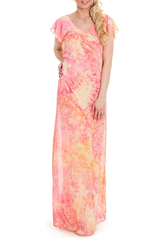 ПлатьеПлатья<br>Платье прямого силуэта из легкого шифона нежных пастельных тонов подойдет и для торжественных случаев, и для встреч с друзьями. Платье подчеркивает все достоинства вашей фигуры, так как оно приталено. Вырез на спине и небольшая пелеринка по его краям выглядят очень женственно и сексуально.  Цвет: желтый, розовый  Рост девушки-фотомодели 170 см.<br><br>Горловина: V- горловина<br>По длине: Макси<br>По материалу: Шифон<br>По рисунку: С принтом,Цветные<br>По сезону: Весна,Зима,Лето,Осень,Всесезон<br>По силуэту: Полуприталенные<br>По стилю: Нарядный стиль,Повседневный стиль,Летний стиль<br>Рукав: Короткий рукав<br>Размер : 42,46<br>Материал: Шифон<br>Количество в наличии: 2