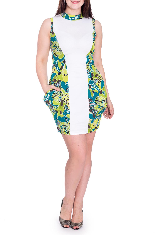 ПлатьеПлатья<br>Красивое домашнее платье без рукавов. Домашняя одежда, прежде всего, должна быть удобной, практичной и красивой. В наших изделиях Вы будете чувствовать себя комфортно, особенно, по вечерам после трудового дня.  В изделии использованы цвета: белый, зеленый и др.  Рост девушки-фотомодели 180 см.<br><br>По длине: До колена<br>По материалу: Трикотаж,Хлопок<br>По рисунку: С принтом,Цветные<br>По сезону: Весна,Зима,Лето,Осень,Всесезон<br>По силуэту: Полуприталенные<br>По элементам: С карманами<br>Рукав: Без рукавов<br>Размер : 42,44,46,48,50<br>Материал: Трикотаж<br>Количество в наличии: 99