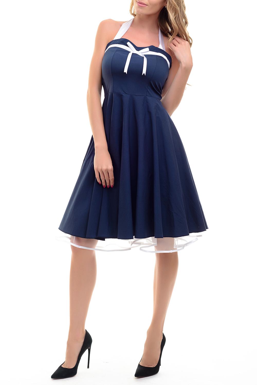 ПлатьеСарафаны<br>Платье в стиле ретро с фатиновым подъюбником (подъюбник съемный). В таком платье Вы не останетесь незамеченной.Цвет: синий с белым.Ростовка изделия 170 см.<br><br>Бретели: Бретель-петля,Широкие бретели<br>Горловина: Фигурная горловина<br>Длина: Ниже колена<br>Материал: Тканевые<br>Рукав: Без рукавов<br>Сезон: Весна,Зима,Лето,Осень,Всесезон<br>Силуэт: Приталенные<br>Стиль: Винтаж,Летний стиль,Молодежный стиль,Нарядный стиль,Романтический стиль<br>Элементы: С декором,С завязками,С открытой спиной,С открытыми плечами,С подкладом,С фигурным низом<br>Размер : 42,44<br>Материал: Плательная ткань + Атлас<br>Количество в наличии: 2