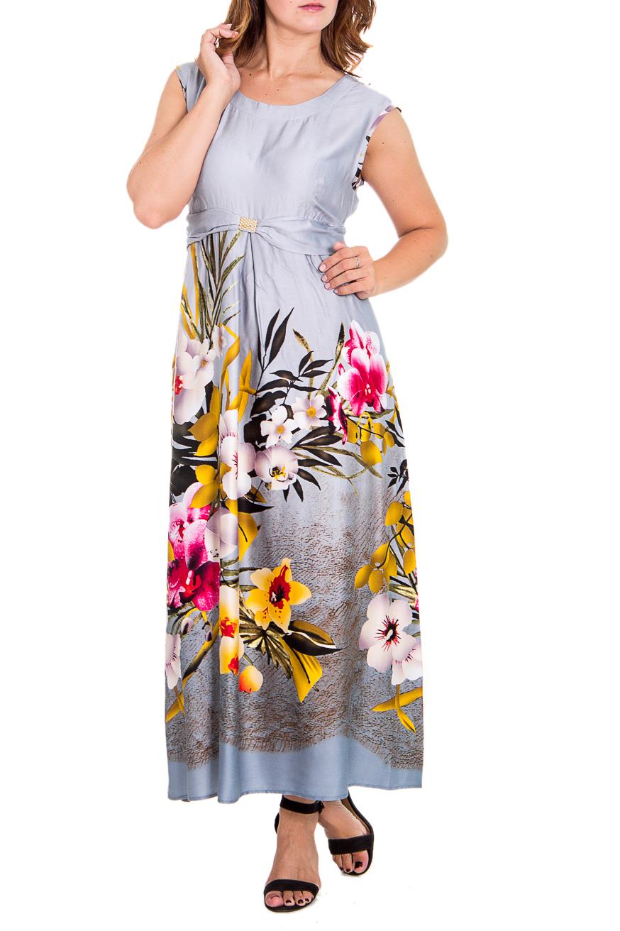 ПлатьеПлатья<br>Восхитительное женское платье полуприталенного силуэта. Модель выполнена из хлопкового материала. Отличный выбор для повседневного гардероба.  Цвет: серый, белый, желтый, розовый  Рост девушки-фотомодели 180 см<br><br>Горловина: С- горловина<br>Рукав: Без рукавов<br>Длина: Макси<br>Материал: Хлопок<br>Рисунок: Растительные мотивы,Цветные,Цветочные,С принтом<br>Сезон: Лето<br>Силуэт: Полуприталенные<br>Стиль: Летний стиль,Повседневный стиль<br>Форма: Платье - трапеция<br>Размер : 46<br>Материал: Хлопок<br>Количество в наличии: 1