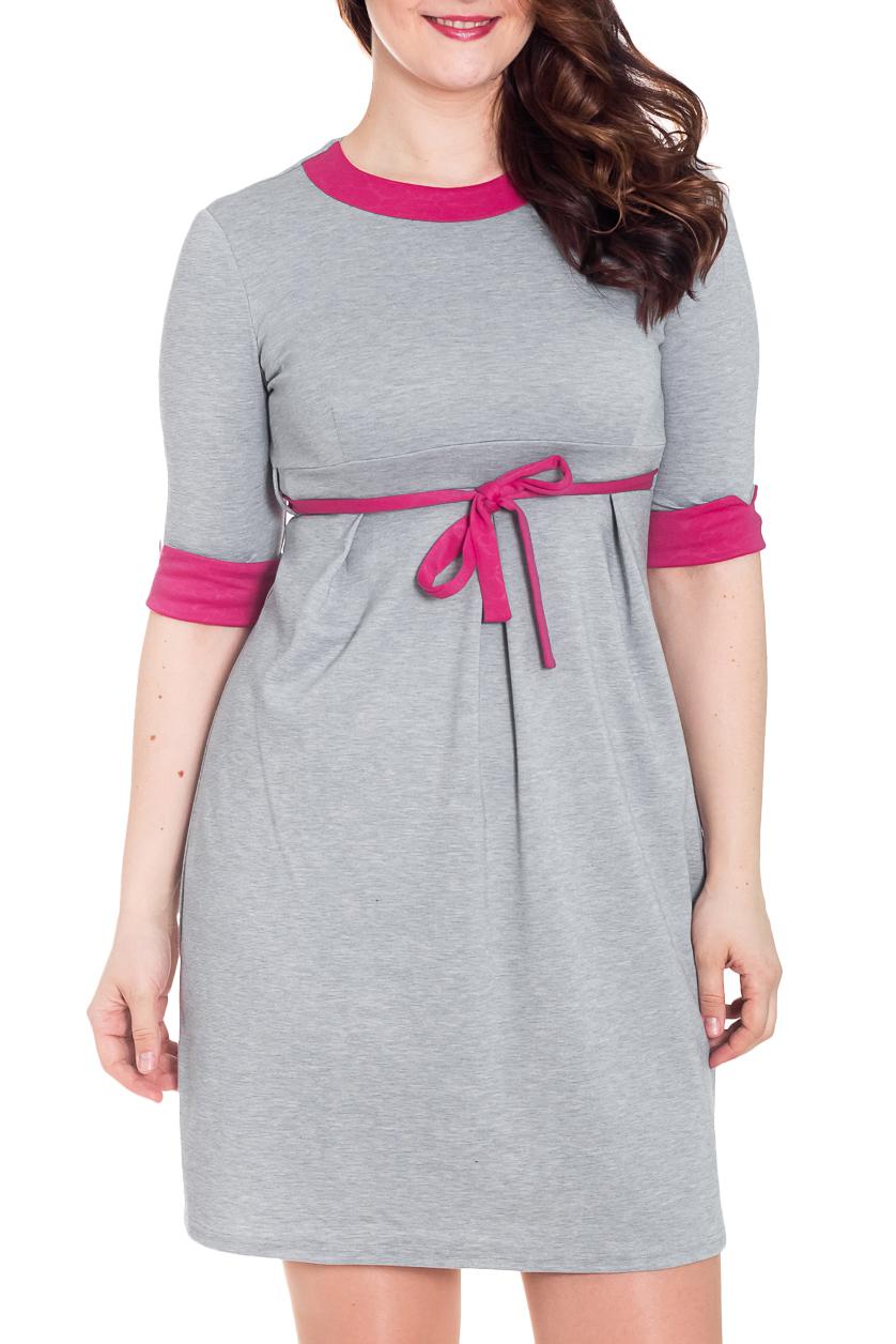 ПлатьеПлатья<br>Чудесное платье с круглой горловиной, контрастной отделкой и короткими рукавами.  За счет свободного кроя и эластичного материала изделие можно носить во время беременности  Цвет: серый, розовый  Рост девушки-фотомодели 180 см<br><br>Горловина: С- горловина<br>По длине: До колена<br>По материалу: Вискоза,Трикотаж<br>По образу: Город,Свидание<br>По рисунку: Цветные<br>По силуэту: Полуприталенные<br>По стилю: Повседневный стиль<br>По форме: Платье - футляр<br>По элементам: С завышенной талией,С манжетами<br>Рукав: До локтя<br>По сезону: Осень,Весна<br>Размер : 46,48,50<br>Материал: Джерси<br>Количество в наличии: 3