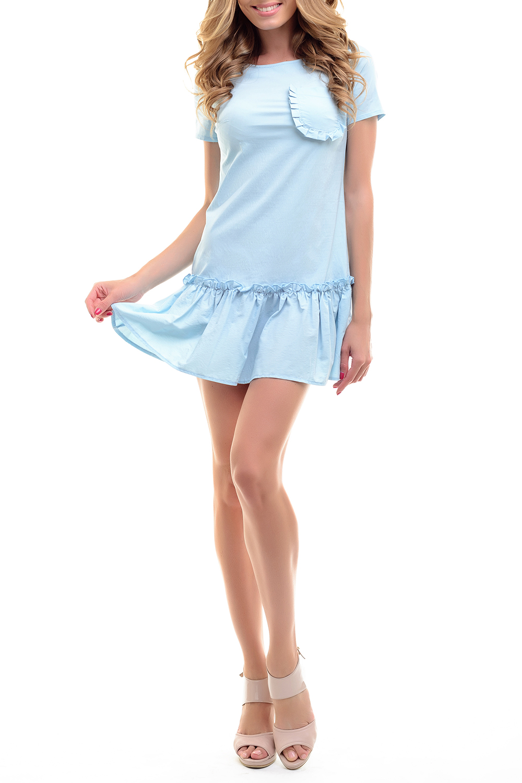 Платье платье oodji ultra цвет белый голубой 11900150 5m 13632 1270e размер 38 170 44 170