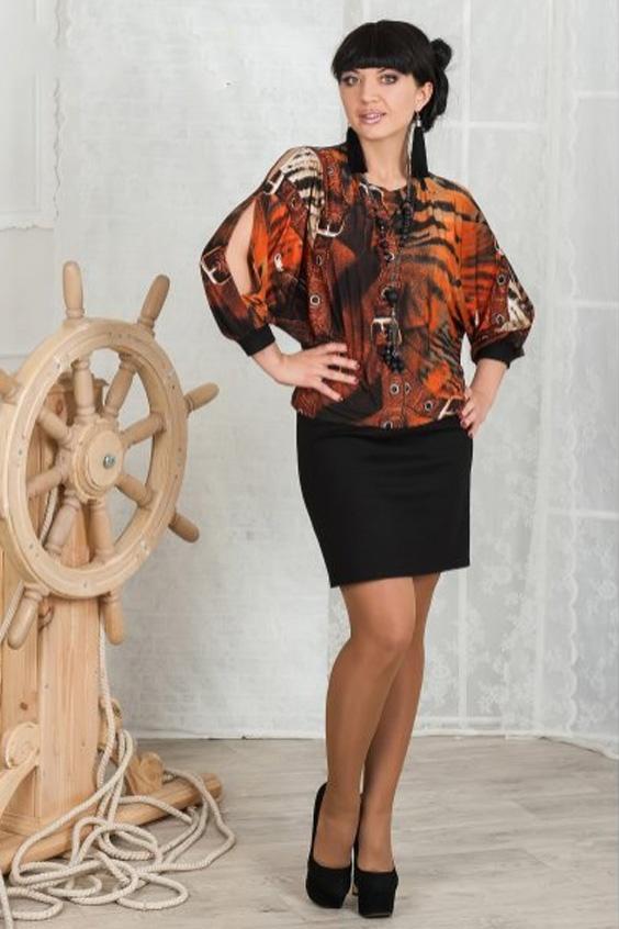ПлатьеПлатья<br>Платье с  рукавом летучая мышь из струящегося трикотажа холодное масло. Кокетливые разрезы по шву рукава и плеча. Юбка выполнена из плотного джерси, слегка заужена к низу.   Длина 106 см в 46-48 размерах Длина 109 см в 50-54 размерах  Цвет: черный, оранжевый, бежевый<br><br>Горловина: С- горловина<br>По длине: До колена<br>По материалу: Вискоза,Трикотаж<br>По рисунку: Животные мотивы,С принтом,Цветные<br>По силуэту: Полуприталенные<br>По стилю: Повседневный стиль<br>По элементам: С манжетами,С разрезом,С вырезом,С декором<br>Рукав: Рукав три четверти<br>По сезону: Осень,Весна<br>По форме: Платье - футляр<br>Размер : 46,48,50,56<br>Материал: Трикотаж + Холодное масло<br>Количество в наличии: 11