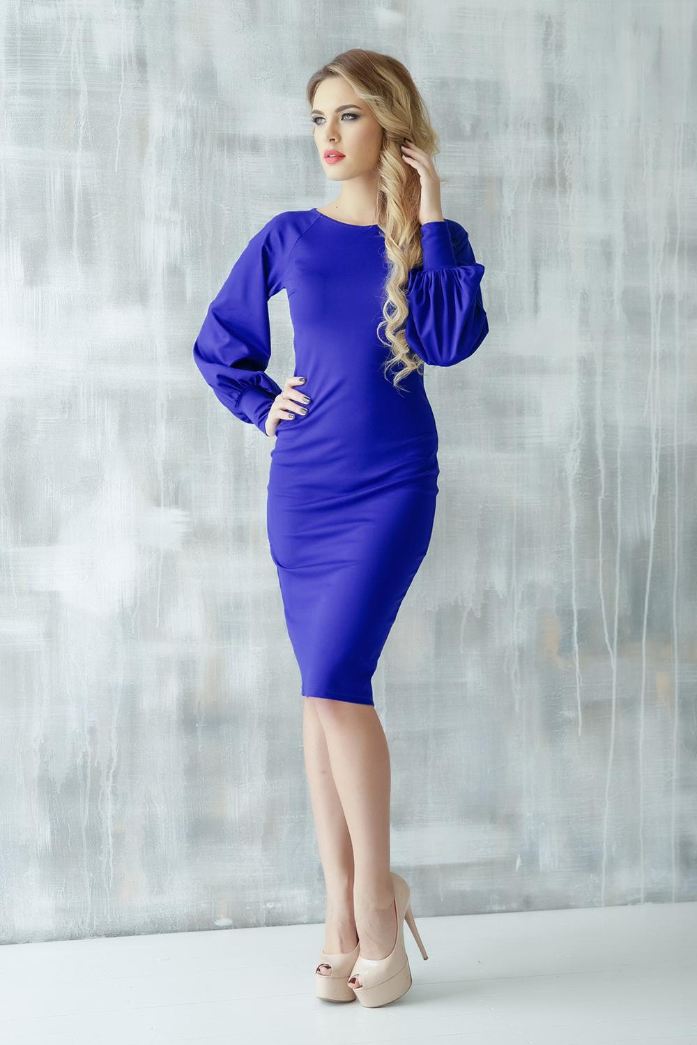 Платье платье матекс уютная цвет синий