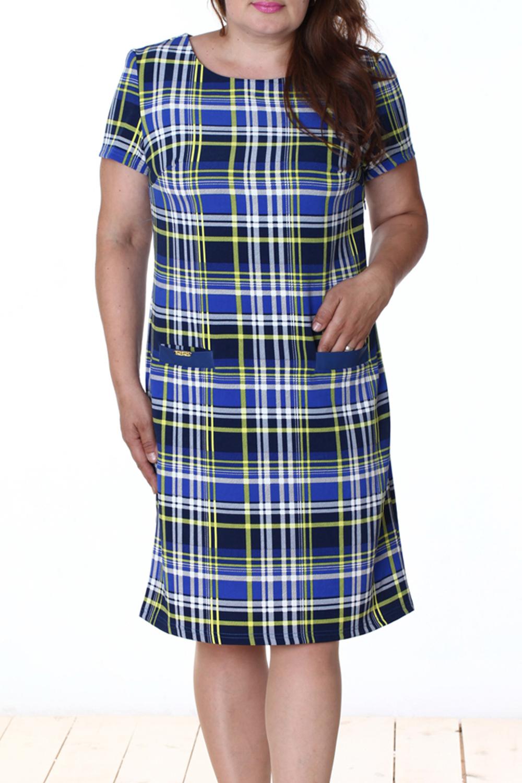ПлатьеПлатья<br>Эффектное платье с круглой горловиной и рукавами 3/4. Модель выполнена из приятного материала со вставками из искусственной кожи. Отличный выбор для повседневного гардероба.  Цвет: синий, зеленый, черный  Длина изделия 88 см  Длина рукава 19 см   Рост девушки-фотомодели 165 см<br><br>Горловина: С- горловина<br>По длине: До колена<br>По материалу: Вискоза,Тканевые<br>По рисунку: Цветные,С принтом<br>По сезону: Весна,Осень<br>По силуэту: Полуприталенные<br>По стилю: Повседневный стиль<br>По элементам: С декором,С карманами,С кожаными вставками<br>Рукав: Короткий рукав<br>Размер : 46,50,52,54<br>Материал: Трикотаж + Искусственная кожа<br>Количество в наличии: 5
