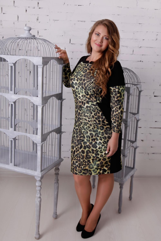 ПлатьеПлатья<br>Эффектное платье с фигурной горловиной и длинными рукавами. Модель выполнена из приятного материала. Отличный выбор для повседневного гардероба.  В изделии использованы цвета: черный, бежевый, коричневый  Ростовка изделия 170 см.  Параметры размеров: 42 размер - обхват груди 84 см., обхват талии 64 см., обхват бедер 94 см. 44 размер - обхват груди 88 см., обхват талии 68 см., обхват бедер 96 см. 46 размер - обхват груди 92 см., обхват талии 75 см., обхват бедер 100 см. 48 размер - обхват груди 96 см., обхват талии 76 см., обхват бедер 104 см. 50 размер - обхват груди 100 см., обхват талии 80 см., обхват бедер 108 см. 52 размер - обхват груди 104 см., обхват талии 84,5 см., обхват бедер 112 см. 54 размер - обхват груди 108 см., обхват талии 89 см., обхват бедер 116 см. 56 размер - обхват груди 112 см., обхват талии 94 см., обхват бедер 120 см. 58 размер - обхват груди 116 см., обхват талии 99 см., обхват бедер 124 см. 60 размер - обхват груди 120 см., обхват талии 104 см., обхват бедер 128 см. 62 размер - обхват груди 124 см., обхват талии 108 см., обхват бедер 132 см. 64 размер - обхват груди 128 см., обхват талии 112 см., обхват бедер 136 см.<br><br>Горловина: Фигурная горловина<br>По длине: До колена<br>По материалу: Трикотаж<br>По рисунку: Леопард,С принтом,Цветные<br>По силуэту: Приталенные<br>По стилю: Повседневный стиль<br>По форме: Платье - футляр<br>Рукав: Длинный рукав<br>По сезону: Осень,Весна<br>Размер : 50<br>Материал: Трикотаж<br>Количество в наличии: 1