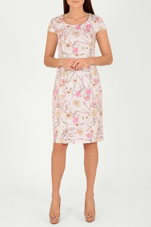 ПлатьеПлатья<br>Милое платье с акварельным принтом. Модель выполнена из приятного материала. Отличный выбор для любого случая.  В изделии использованы цвета: молочный, розовый, зеленый и др.  Рост девушки-фотомодели 170 см.  Параметры размеров: 42 размер - обхват груди 84 см., обхват талии 66 см., обхват бедер 92 см. 44 размер - обхват груди 88 см., обхват талии 70 см., обхват бедер 96 см. 46 размер - обхват груди 92 см., обхват талии 74 см., обхват бедер 100 см. 48 размер - обхват груди 96 см., обхват талии 78 см., обхват бедер 104 см. 50 размер - обхват груди 100 см., обхват талии 82 см., обхват бедер 108 см. 52 размер - обхват груди 104 см., обхват талии 86 см., обхват бедер 112 см. 54 размер - обхват груди 108 см., обхват талии 91 см., обхват бедер 116 см. 56 размер - обхват груди 112 см., обхват талии 95 см., обхват бедер 120 см. 58 размер - обхват груди 116 см., обхват талии 100 см., обхват бедер 124 см. 60 размер - обхват груди 120 см., обхват талии 105 см., обхват бедер 128 см.<br><br>Горловина: С- горловина<br>По длине: До колена<br>По материалу: Жаккард<br>По рисунку: Растительные мотивы,С принтом,Цветные,Цветочные<br>По силуэту: Приталенные<br>По стилю: Летний стиль,Повседневный стиль,Романтический стиль<br>По форме: Платье - футляр<br>По элементам: С разрезом<br>Разрез: Короткий<br>Рукав: Короткий рукав<br>По сезону: Лето<br>Размер : 48<br>Материал: Жаккард<br>Количество в наличии: 1