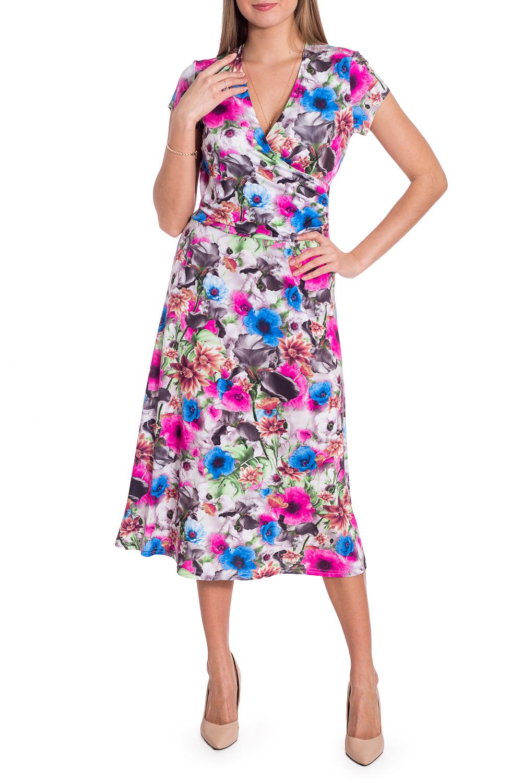 ПлатьеПлатья<br>Цветочное платье длиной миди с горловиной на запах. Модель выполнена из приятного материала. Отличный выбор для повседневного гардероба.Ростовка изделия 164 см.В изделии использованы цвета: серо-розовый и др.Рост девушки-фотомодели 170 смПараметры размеров:42 размер - обхват груди 84 см., обхват талии 66 см., обхват бедер 90 см.44 размер - обхват груди 88 см., обхват талии 70 см., обхват бедер 94 см.46 размер - обхват груди 92 см., обхват талии 74 см., обхват бедер 98 см.48 размер - обхват груди 96 см., обхват талии 78 см., обхват бедер 102 см.50 размер - обхват груди 100 см., обхват талии 82 см., обхват бедер 106 см.52 размер - обхват груди 104 см., обхват талии 86 см., обхват бедер 110 см.54 размер - обхват груди 108 см., обхват талии 92 см., обхват бедер 116 см.56 размер - обхват груди 112 см., обхват талии 98 см., обхват бедер 122 см.58 размер - обхват груди 116 см., обхват талии 104 см., обхват бедер 128 см.60 размер - обхват груди 120 см., обхват талии 110 см., обхват бедер 134 см.62 размер - обхват груди 124 см., обхват талии 118 см., обхват бедер 140 см.64 размер - обхват груди 128 см., обхват талии 126 см., обхват бедер 146 см.66 размер - обхват груди 132 см., обхват талии 132 см., обхват бедер 152 см.68 размер - обхват груди 138 см., обхват талии 140 см., обхват бедер 158 см.<br><br>Горловина: V- горловина,Запах<br>Рукав: Короткий рукав<br>Длина: Ниже колена<br>Материал: Трикотаж<br>Рисунок: Растительные мотивы,С принтом,Цветные,Цветочные<br>Сезон: Весна,Лето<br>Силуэт: Приталенные<br>Стиль: Повседневный стиль<br>Форма: Платье - трапеция<br>Размер : 44<br>Материал: Холодное масло<br>Количество в наличии: 1