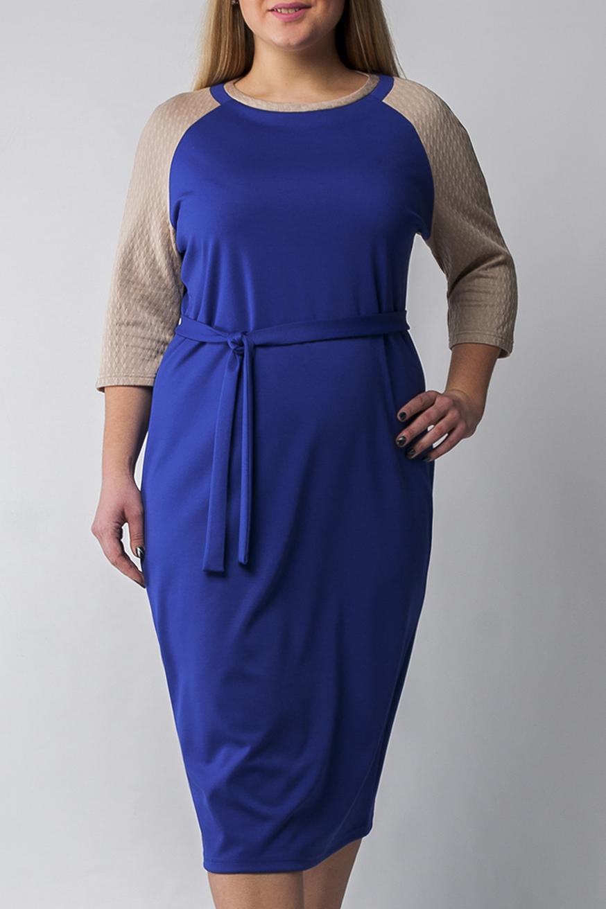 ПлатьеПлатья<br>Классическое прямое платье из плотного трикотажа, прилегающего силуэта, которое подчёркивает достоинства фигуры. Прямое платье – обязательный предмет в гардеробе каждой женщины, оно универсально. Классическое сочетание цветов делает модель более повседневным, подходящим для работы в офисе. Платье без пояса  Параметры изделия:  44 размер: обхват груди - 95 см. обхват по линии бедер - 98 см. длина изделия - 101 см.  52 размер: обхват груди - 111 см. обхват по линии бедер - 114 см. длина изделия - 113 см.  В изделии использованы цвета: синий, бежевый  Рост девушки-фотомодели 175 см.<br><br>Горловина: С- горловина<br>По длине: Ниже колена<br>По материалу: Трикотаж<br>По рисунку: Цветные<br>По силуэту: Полуприталенные<br>По стилю: Офисный стиль,Повседневный стиль<br>По форме: Платье - футляр<br>Рукав: Рукав три четверти<br>По сезону: Осень,Весна,Зима<br>Размер : 48,50,52,54,56<br>Материал: Джерси<br>Количество в наличии: 5