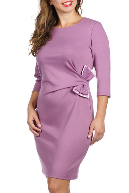 ПлатьеПлатья<br>Молодежное платье с рукавом 3/4. Круглый вырез. Полочка оформлена двойным бантом из атласа сочетающимся с изделием. Длина платья выше колена. Отличный вариант для повседневного и праздничного выхода.<br><br>Размер : 42,44<br>Материал: Костюмно-плательная ткань<br>Количество в наличии: 2