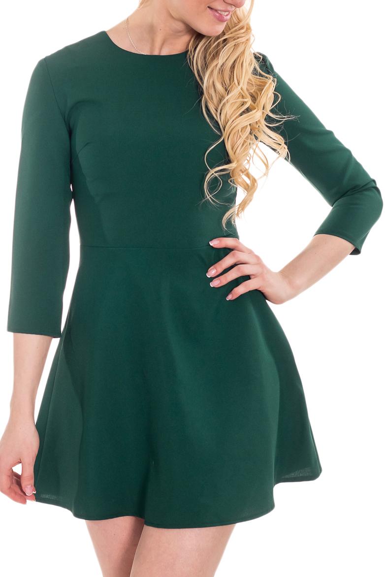 ПлатьеПлатья<br>Классика и элегантность - это залог успеха для создания Вашего повседневного образа. Дополните это стильное платье модными аксессуарами и завершите образ успешной женщины  Цвет: зеленый.  Рост девушки-фотомодели 170 см<br><br>Горловина: С- горловина<br>По длине: Мини<br>По материалу: Тканевые<br>По рисунку: Однотонные<br>По силуэту: Полуприталенные,Приталенные<br>По стилю: Повседневный стиль<br>По форме: Платье - трапеция<br>Рукав: Рукав три четверти<br>По сезону: Осень,Весна,Зима<br>Размер : 44,46<br>Материал: Плательная ткань<br>Количество в наличии: 2