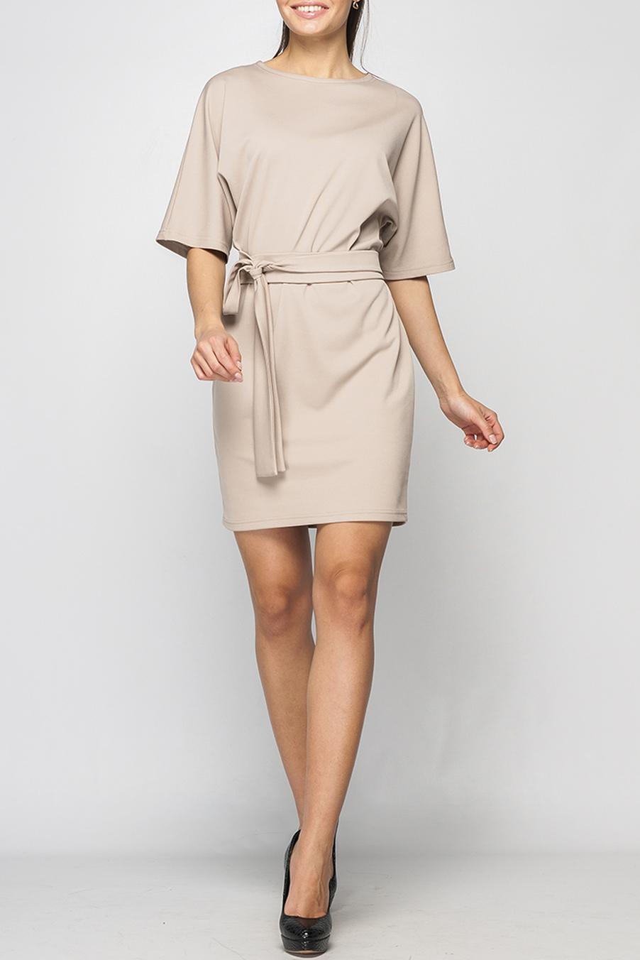 ПлатьеПлатья<br>Удобное платье подойдет для любого случая. Модель с круглым вырезом горловины. Короткие цельнокроеные рукава дарят свободу движению. Это платье станет прекрасным дополнением Вашего гардероба. Пояс в комплект не входит.  Параметры изделия:  44 размер: обхват груди - 102 см, обхват бедер - 100 см, длина рукава - 32 см, длина изделия - 88 см; 52 размер: обхват груди - 118 см, обхват бедер - 120 см, длина рукава - 33 см, длина изделия - 92 см.  В изделии использованы цвета: бежевый  Рост девушки-фотомодели 170 см.<br><br>Горловина: С- горловина<br>По длине: До колена<br>По материалу: Трикотаж<br>По рисунку: Однотонные<br>По силуэту: Полуприталенные<br>По стилю: Классический стиль,Офисный стиль,Повседневный стиль<br>Рукав: До локтя<br>По сезону: Осень,Весна,Зима<br>Размер : 50<br>Материал: Трикотаж<br>Количество в наличии: 1