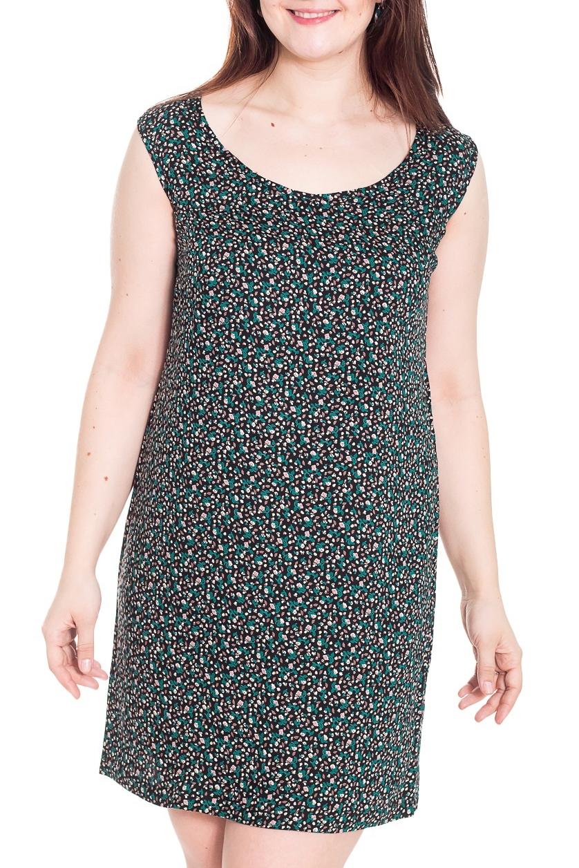 ПлатьеПлатья<br>Замечательное платье без рукавов с круглой горловиной. Модель выполнена из приятного материала. Отличный выбор для повседневного гардероба. Платье можно носить как сарафан вместе с блузками, водолазками или рубашками.  Цвет: черный, бирюзовый, бежевый  Рост девушки-фотомодели 180 см.<br><br>Горловина: С- горловина<br>По длине: До колена<br>По материалу: Тканевые<br>По образу: Город,Свидание<br>По рисунку: С принтом,Цветные<br>По сезону: Весна,Осень<br>По силуэту: Прямые<br>По стилю: Повседневный стиль<br>По форме: Платье - футляр<br>Рукав: Без рукавов<br>Размер : 50<br>Материал: Плательная ткань<br>Количество в наличии: 1