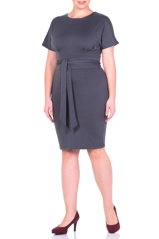 ПлатьеПлатья<br>Элегантное платье - гарант эффектного образа. Основным преимуществом этой модели платья является то, оно украсит женщину с абсолютно любой фигурой. Широкий верх с короткими широкими цельнокроеными рукавами и узкий низ по бедрам придает модели особый шарм, демонстрируя плавные изгибы талии и бедер. Сзади практичная застежка-молния. Это платье - верный спутник уверенной в себе респектабельной бизнес-леди, обладающей тонким чувством стиля и отменным вкусом. Ткань - плотный трикотаж, характеризующийся эластичностью, растяжимостью и мягкостью. Платье без пояса.  Длина изделия по спинке 97 см.  В изделии использованы цвета: серый  Рост девушки-фотомодели 170 см.<br><br>Горловина: С- горловина<br>По длине: До колена<br>По материалу: Вискоза,Трикотаж<br>По рисунку: Однотонные<br>По силуэту: Полуприталенные<br>По стилю: Классический стиль,Офисный стиль,Повседневный стиль<br>По форме: Платье - футляр<br>Рукав: Короткий рукав<br>По сезону: Осень,Весна,Зима<br>Размер : 46,48,50,52<br>Материал: Трикотаж<br>Количество в наличии: 4
