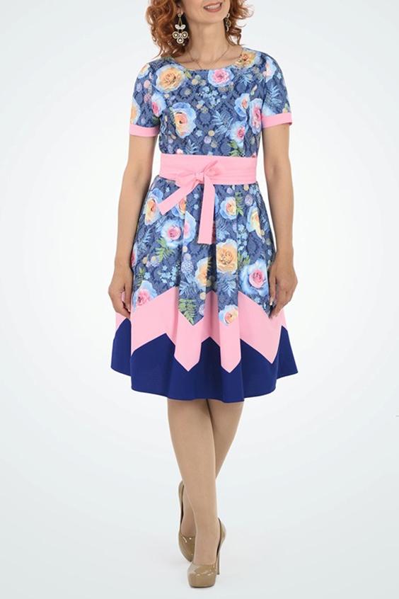 ПлатьеПлатья<br>Цветное платье с круглой горловиной и короткими рукавами. Модель на подкладе, выполнена из приятного материала. Отличный выбор для любого случая.Платье без ремня.В изделии использованы цвета: синий, розовый и др.Ростовка изделия 168 см.Параметры размеров:44 размер - обхват груди 84 см., обхват талии 72 см., обхват бедер 97 см.46 размер - обхват груди 92 см., обхват талии 76 см., обхват бедер 100 см.48 размер - обхват груди 96 см., обхват талии 80 см., обхват бедер 103 см.50 размер - обхват груди 100 см., обхват талии 84 см., обхват бедер 106 см.52 размер - обхват груди 104 см., обхват талии 88 см., обхват бедер 109 см.54 размер - обхват груди 110 см., обхват талии 94,5 см., обхват бедер 114 см.56 размер - обхват груди 116 см., обхват талии 101 см., обхват бедер 119 см.58 размер - обхват груди 122 см., обхват талии 107,5 см., обхват бедер 124 см.60 размер - обхват груди 128 см., обхват талии 114 см., обхват бедер 129 см.<br><br>Горловина: С- горловина<br>Рукав: Короткий рукав<br>Длина: Ниже колена<br>Материал: Жаккард<br>Рисунок: Растительные мотивы,С принтом,Цветные,Цветочные<br>Сезон: Весна,Лето,Осень<br>Силуэт: Приталенные<br>Стиль: Нарядный стиль,Повседневный стиль<br>Форма: Платье - трапеция<br>Размер : 44,46<br>Материал: Жаккард<br>Количество в наличии: 2