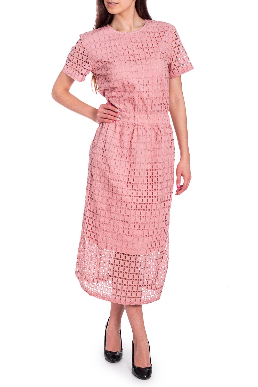 ПлатьеПлатья<br>Удлиненное платье с короткими рукавами. Модель выполнена из хлопкового материала. Отличный выбор для любого случая.  В изделии использованы цвета: розовый  Рост девушки-фотомодели 170 см<br><br>Горловина: С- горловина<br>По длине: Миди,Ниже колена<br>По материалу: Хлопок<br>По рисунку: Однотонные<br>По сезону: Весна,Зима,Лето,Осень,Всесезон<br>По силуэту: Полуприталенные<br>По стилю: Повседневный стиль<br>По форме: Платье - трапеция<br>Рукав: Короткий рукав<br>Размер : 40,44<br>Материал: Хлопок<br>Количество в наличии: 2