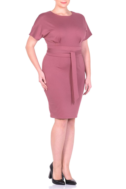 ПлатьеПлатья<br>Элегантное платье - гарант эффектного образа. Основным преимуществом этой модели платья является то, оно украсит женщину с абсолютно любой фигурой. Широкий верх с короткими широкими цельнокроеными рукавами и узкий низ по бедрам придает модели особый шарм, демонстрируя плавные изгибы талии и бедер. Сзади практичная застежка-молния. Это платье - верный спутник уверенной в себе респектабельной бизнес-леди, обладающей тонким чувством стиля и отменным вкусом. Ткань - плотный трикотаж, характеризующийся эластичностью, растяжимостью и мягкостью. Платье без пояса.  Длина изделия по спинке 97 см.  В изделии использованы цвета: темно-розовый  Рост девушки-фотомодели 170 см.<br><br>Горловина: С- горловина<br>По длине: До колена<br>По материалу: Вискоза,Трикотаж<br>По образу: Город,Офис,Свидание<br>По рисунку: Однотонные<br>По силуэту: Полуприталенные<br>По стилю: Классический стиль,Офисный стиль,Повседневный стиль<br>По форме: Платье - футляр<br>Рукав: Короткий рукав<br>По сезону: Осень,Весна<br>Размер : 46,48,50,52<br>Материал: Трикотаж<br>Количество в наличии: 4