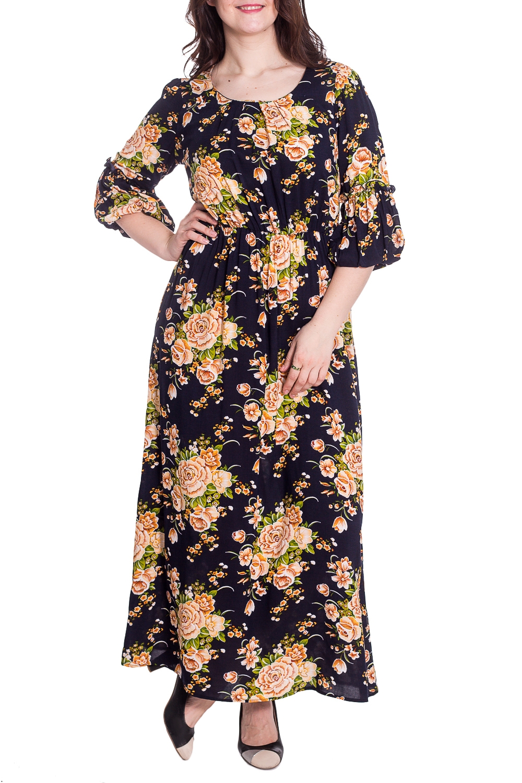ПлатьеПлатья<br>Цветное платье в пол с рукавами 3/4. Модель выполнена из приятного материала. Отличный выбор для повседневного гардероба.  В изделии использованы цвета: темно-синий, бежевый и др.  Параметры размеров: 44 размер - обхват груди 84 см., обхват талии 72 см., обхват бедер 97 см. 46 размер - обхват груди 92 см., обхват талии 76 см., обхват бедер 100 см. 48 размер - обхват груди 96 см., обхват талии 80 см., обхват бедер 103 см. 50 размер - обхват груди 100 см., обхват талии 84 см., обхват бедер 106 см. 52 размер - обхват груди 104 см., обхват талии 88 см., обхват бедер 109 см. 54 размер - обхват груди 110 см., обхват талии 94,5 см., обхват бедер 114 см. 56 размер - обхват груди 116 см., обхват талии 101 см., обхват бедер 119 см. 58 размер - обхват груди 122 см., обхват талии 107,5 см., обхват бедер 124 см. 60 размер - обхват груди 128 см., обхват талии 114 см., обхват бедер 129 см.  Рост девушки-фотомодели 180 см<br><br>Горловина: С- горловина<br>По длине: Макси<br>По материалу: Тканевые<br>По рисунку: Растительные мотивы,С принтом,Цветные,Цветочные<br>По сезону: Весна,Лето<br>По силуэту: Полуприталенные<br>По стилю: Летний стиль,Повседневный стиль<br>По форме: Платье - трапеция<br>Рукав: Рукав три четверти<br>Размер : 46,48,52<br>Материал: Плательная ткань<br>Количество в наличии: 3