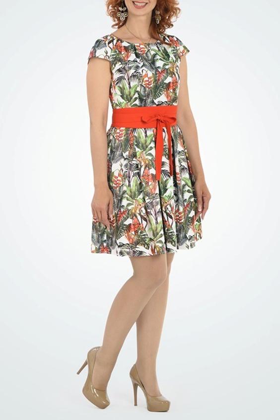 ПлатьеПлатья<br>Цветное платье с круглой горловиной и короткими рукавами. Модель выполнена из приятного материала. Отличный выбор для любого случая. Платье без пояса.  В изделии использованы цвета: белый, красный, зеленый и др.  Ростовка изделия 168 см.  Параметры размеров: 44 размер - обхват груди 84 см., обхват талии 72 см., обхват бедер 97 см. 46 размер - обхват груди 92 см., обхват талии 76 см., обхват бедер 100 см. 48 размер - обхват груди 96 см., обхват талии 80 см., обхват бедер 103 см. 50 размер - обхват груди 100 см., обхват талии 84 см., обхват бедер 106 см. 52 размер - обхват груди 104 см., обхват талии 88 см., обхват бедер 109 см. 54 размер - обхват груди 110 см., обхват талии 94,5 см., обхват бедер 114 см. 56 размер - обхват груди 116 см., обхват талии 101 см., обхват бедер 119 см. 58 размер - обхват груди 122 см., обхват талии 107,5 см., обхват бедер 124 см. 60 размер - обхват груди 128 см., обхват талии 114 см., обхват бедер 129 см.  Рост девушки-фотомодели 180 см.<br><br>Горловина: С- горловина<br>По длине: До колена<br>По материалу: Атлас<br>По рисунку: Растительные мотивы,С принтом,Цветные<br>По силуэту: Приталенные<br>По стилю: Летний стиль,Нарядный стиль,Повседневный стиль<br>По форме: Платье - трапеция<br>Рукав: Короткий рукав<br>По сезону: Лето<br>Размер : 44,46,48,50<br>Материал: Атлас<br>Количество в наличии: 16