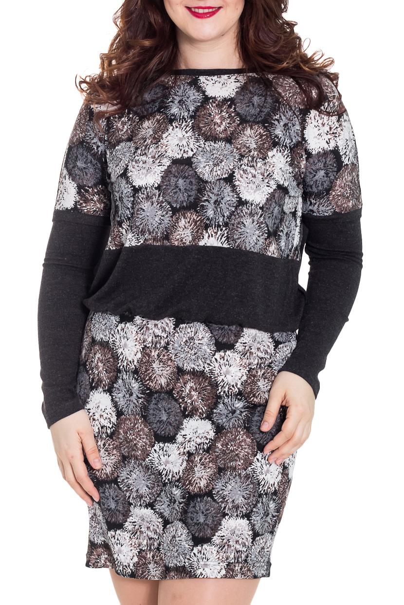 ПлатьеПлатья<br>Цветное платье с круглой горловиной и длинными рукавами. Модель выполнена из плотного трикотажа. Отличный выбор для повседневного гардероба.  Цвет: серый, бежевый, черный, белый   Рост девушки-фотомодели 180 см<br><br>Горловина: С- горловина<br>По длине: До колена<br>По материалу: Вискоза,Трикотаж<br>По рисунку: С принтом,Цветные<br>По сезону: Зима,Осень,Весна<br>По силуэту: Полуприталенные<br>По стилю: Повседневный стиль<br>По форме: Платье - футляр<br>Рукав: Длинный рукав<br>Размер : 44,48,50,52,54,56<br>Материал: Трикотаж<br>Количество в наличии: 6