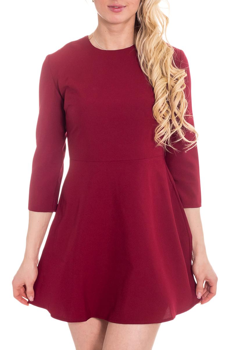 ПлатьеПлатья<br>Классика и элегантность - это залог успеха для создания Вашего повседневного образа. Дополните это стильное платье модными аксессуарами и завершите образ успешной женщины  Цвет: бордово-красный.  Рост девушки-фотомодели 170 см<br><br>Горловина: С- горловина<br>По длине: Мини<br>По материалу: Тканевые<br>По рисунку: Однотонные<br>По силуэту: Приталенные<br>По стилю: Кэжуал,Повседневный стиль<br>По форме: Беби - долл,Платье - трапеция<br>Рукав: Рукав три четверти<br>По сезону: Осень,Весна,Зима<br>По элементам: С завышенной талией<br>Размер : 46,48<br>Материал: Плательная ткань<br>Количество в наличии: 2