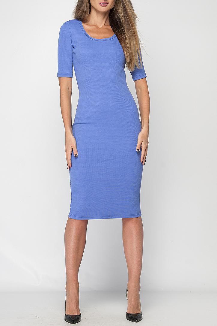 ПлатьеПлатья<br>Платье хлопковое длины миди. Модель прилегающего силуэта, имеет круглый вырез горловины и рукав 3/4. Это лаконичное платье сделает Ваш образ стильным и женственным, оно прекрасно подчеркнет все достоинства фигуры.   Параметры изделия:  44 размер: обхват груди - 82 см, обхват бедер - 84 см, длина рукава - 30 см, длина изделия - 108 см;  50 размер: обхват груди - 94 см, обхват бедер - 100 см, длина рукава - 30 см, длина изделия - 111 см.  В изделии использованы цвета: синий  Рост девушки-фотомодели 175 см.<br><br>Горловина: С- горловина<br>По длине: Ниже колена<br>По материалу: Трикотаж,Хлопок<br>По образу: Город,Свидание<br>По рисунку: Однотонные<br>По силуэту: Обтягивающие<br>По стилю: Кэжуал,Повседневный стиль<br>По форме: Платье - футляр<br>Рукав: До локтя<br>По сезону: Осень,Весна,Зима<br>Размер : 48,50<br>Материал: Трикотаж<br>Количество в наличии: 2