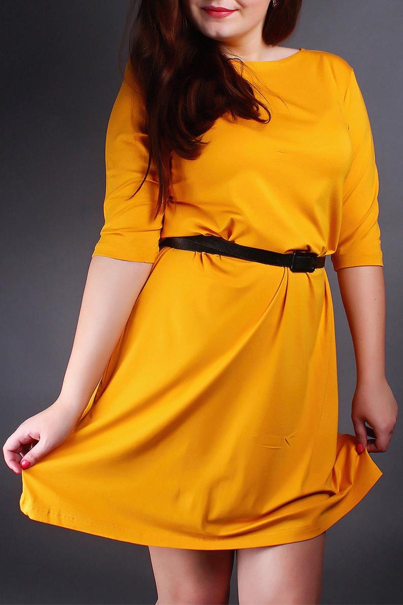ПлатьеПлатья<br>Однотонное платье с рукавами 3/4. Модель выполнена из приятного материала. Отличный выбор для повседневного гардероба. Платье без пояса.  Цвет: желтый  Ростовка изделия 170 см.<br><br>Горловина: С- горловина<br>По длине: До колена<br>По материалу: Вискоза<br>По рисунку: Однотонные<br>По силуэту: Полуприталенные<br>По стилю: Повседневный стиль<br>По форме: Платье - футляр<br>Рукав: Рукав три четверти<br>По сезону: Осень,Весна<br>Размер : 58-60<br>Материал: Вискоза<br>Количество в наличии: 1