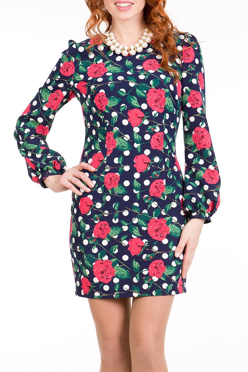 ПлатьеПлатья<br>Эффектное молодежное платье прилегающего силуэта, длиной выше колена, выполнено из ткани с ярким рисунком. Рукав втачной длинный на манжете со сборкой по окату и низу, вырез горловины овальный.   Длина платья 76 – 82 см.  В изделии использованы цвета: синий, зеленый, коралловый, белый  Ростовка изделия 170 см<br><br>Горловина: С- горловина<br>По длине: До колена<br>По материалу: Тканевые<br>По рисунку: В горошек,Растительные мотивы,С принтом,Цветные,Цветочные<br>По силуэту: Полуприталенные<br>По стилю: Повседневный стиль<br>По форме: Платье - футляр<br>По элементам: С манжетами<br>Рукав: Длинный рукав<br>По сезону: Осень,Весна,Зима<br>Размер : 44,46,48,50,52<br>Материал: Трикотаж<br>Количество в наличии: 10