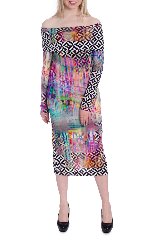 ПлатьеПлатья<br>Эффектное платье миди с длинными рукавами и открытыми плечами. Модель выполнена из приятного материала. Отличный выбор для любого случая.  В изделии использованы цвета: черный, белый, розовый и др.  Рост девушки-фотомодели 170 см<br><br>По длине: Миди<br>По материалу: Трикотаж<br>По рисунку: С принтом,Цветные<br>По силуэту: Обтягивающие<br>По стилю: Повседневный стиль<br>По форме: Платье - карандаш<br>По элементам: С открытыми плечами<br>Рукав: Длинный рукав<br>По сезону: Осень,Весна<br>Размер : 42,44,46<br>Материал: Трикотаж<br>Количество в наличии: 3