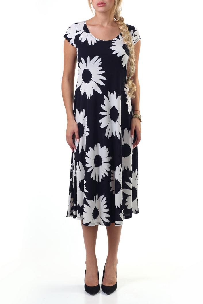 Платье платье oodji ultra цвет темно синий белый 11910073 4b 26346 1279s размер 38 170 44 170