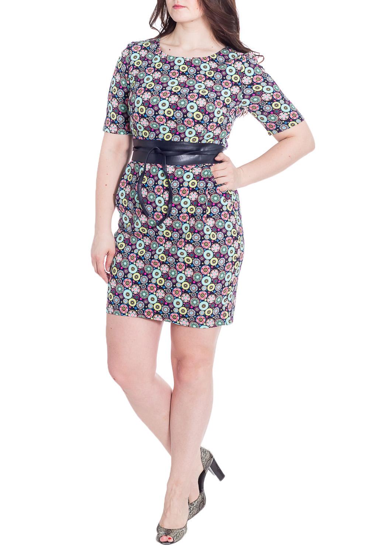 ПлатьеПлатья<br>Цветное платье с круглой горловиной и рукавами до локтя. Модель выполнена из приятного материала. Отличный выбор для любого случая. Платье без пояса.  В изделии использованы цвета: синий и др.  Рост девушки-фотомодели 180 см<br><br>Горловина: С- горловина<br>По длине: До колена<br>По материалу: Трикотаж<br>По рисунку: С принтом,Цветные<br>По силуэту: Приталенные<br>По стилю: Кэжуал,Повседневный стиль<br>По форме: Платье - футляр<br>По элементам: С разрезом<br>Разрез: Короткий<br>Рукав: До локтя<br>По сезону: Лето,Осень,Весна<br>Размер : 50,52,54,56<br>Материал: Трикотаж<br>Количество в наличии: 4
