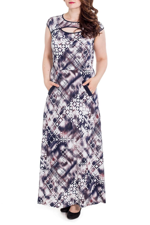 ПлатьеПлатья<br>Эффектное платье в пол попуприталенного силуэта с короткими рукавами. Модель выполнена из приятного материала. Отличный выбор на любой случай.  Цвет: синий, белый, розовый  Рост девушки-фотомодели 180 см<br><br>Горловина: С- горловина<br>По длине: Макси<br>По материалу: Вискоза,Трикотаж<br>По рисунку: С принтом,Цветные<br>По силуэту: Полуприталенные<br>По стилю: Повседневный стиль,Летний стиль<br>По форме: Платье - трапеция<br>По элементам: С вырезом,С карманами<br>Рукав: Короткий рукав<br>По сезону: Лето<br>Размер : 46,48,50,52,54<br>Материал: Холодное масло<br>Количество в наличии: 5