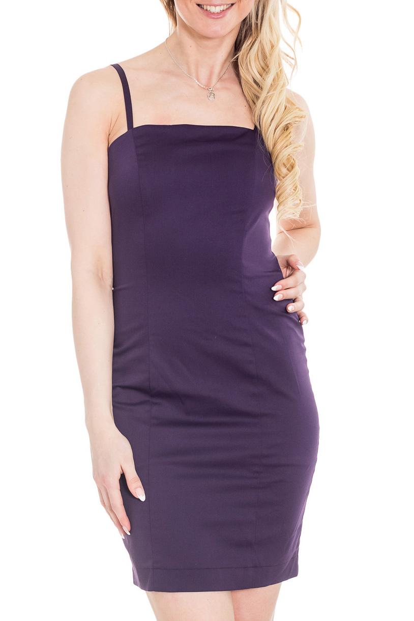 ПлатьеПлатья<br>По форме это платье-комбинация, оно маленькое, обтягивающее фигуру, но откровенность комбинации скрыта в этой модели плотной тканью и подкладом. В таком платье можно отправиться не только на вечеринку или прогулку, но и в офис на работу, если поверх платья надеть пиджак.  Цвет: фиолетовый  Рост девушки-фотомодели 170 см.<br><br>По длине: До колена<br>По материалу: Тканевые<br>По рисунку: Однотонные<br>По сезону: Весна,Зима,Лето,Осень,Всесезон<br>По силуэту: Приталенные<br>По стилю: Нарядный стиль<br>По форме: Платье - футляр<br>По элементам: С разрезом<br>Разрез: Шлица<br>Рукав: Без рукавов<br>Размер : 42,44,46<br>Материал: Плательная ткань<br>Количество в наличии: 3