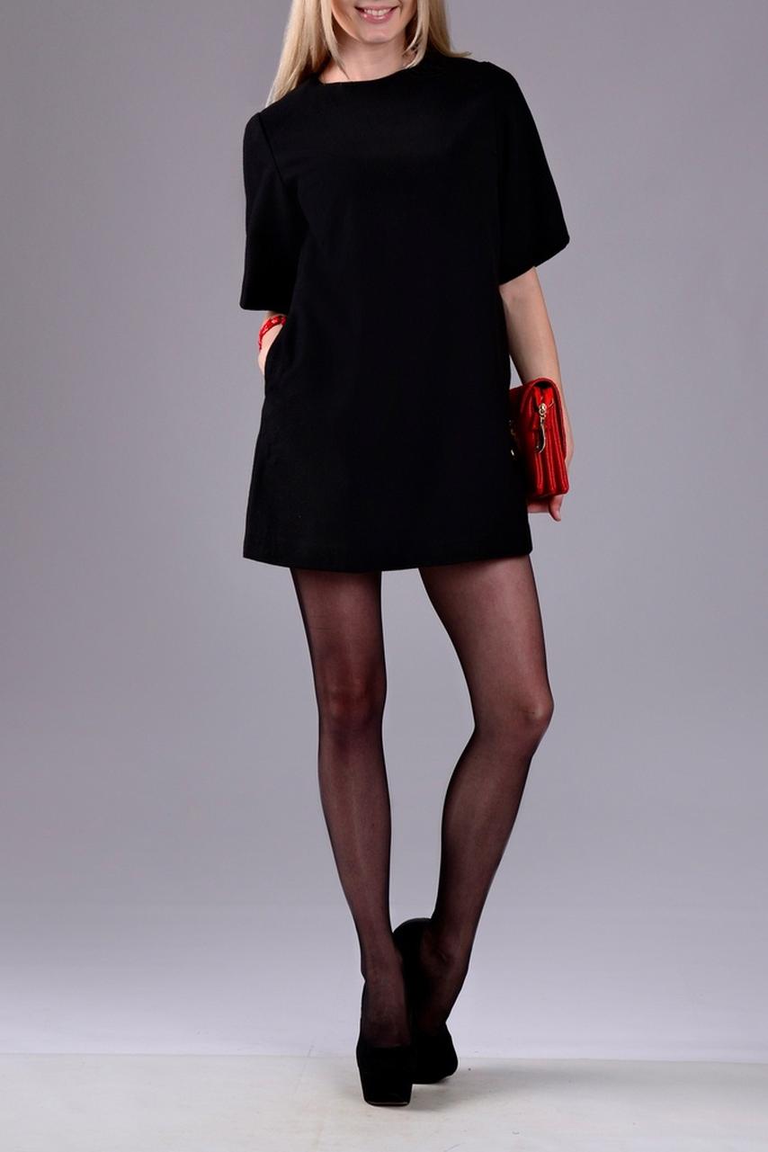 ПлатьеПлатья<br>Классическое платье-туника с округлой горловиной и рукавами до локтя. Изделие станет основой Вашего повседневного гардероба.  Цвет: черный.  Рост девушки-фотомодели 170 см<br><br>Горловина: С- горловина<br>По длине: Мини<br>По материалу: Тканевые<br>По рисунку: Однотонные<br>По стилю: Кэжуал,Повседневный стиль<br>Рукав: До локтя<br>По сезону: Осень,Весна,Зима<br>По силуэту: Свободные<br>По форме: Платье - трапеция<br>Размер : 42<br>Материал: Драп<br>Количество в наличии: 1