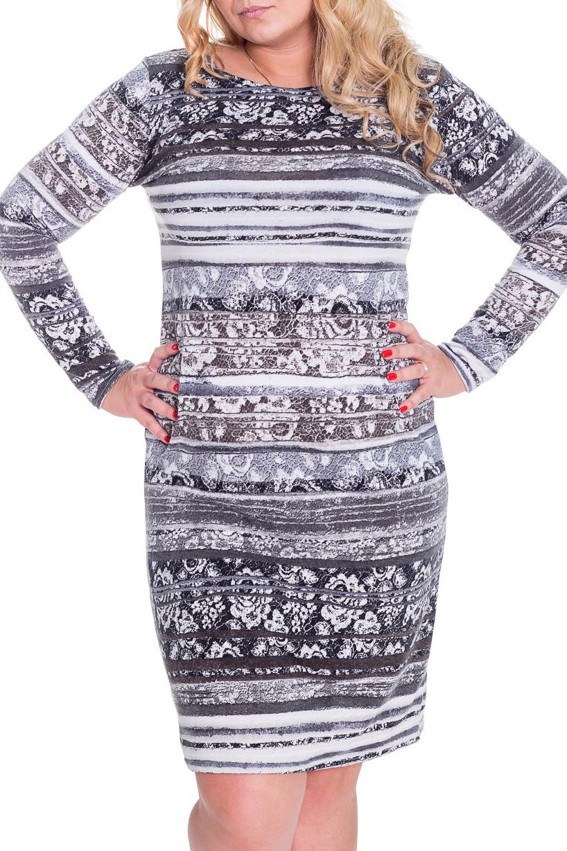 ПлатьеПлатья<br>Очаровательное платье футлярного типа с длинными рукавами. Модель выполнена из плотного трикотажа. Отличный выбор для повседневного гардероба.  Цвет: серый, белый, сиреневый  Рост девушки-фотомодели 170 см.<br><br>Горловина: С- горловина<br>По длине: До колена<br>По материалу: Вискоза,Трикотаж<br>По образу: Город,Свидание<br>По рисунку: Абстракция,В полоску,Цветные<br>По сезону: Зима<br>По силуэту: Полуприталенные<br>По стилю: Повседневный стиль<br>По форме: Платье - футляр<br>Рукав: Длинный рукав<br>Размер : 46,50<br>Материал: Трикотаж<br>Количество в наличии: 2