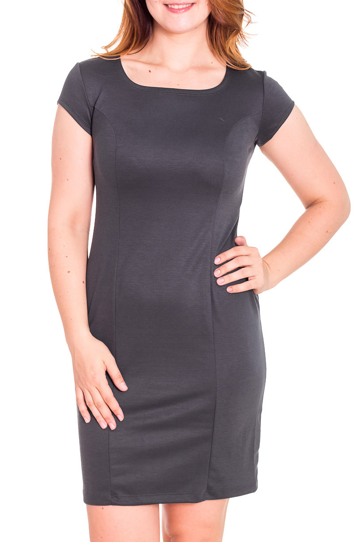 ПлатьеПлатья<br>Лаконичное платье с круглой горловиной и коротким рукавом. Модель выполнена из приятного трикотажа. Отличный выбор для повседневного и делового гардероба.  Цвет: серый  Рост девушки-фотомодели 180 см<br><br>Горловина: С- горловина<br>По длине: До колена<br>По материалу: Вискоза,Трикотаж<br>По рисунку: Однотонные<br>По сезону: Весна,Осень<br>По стилю: Офисный стиль,Повседневный стиль,Классический стиль,Кэжуал<br>По форме: Платье - футляр<br>Рукав: Короткий рукав<br>По силуэту: Приталенные<br>Размер : 46,48<br>Материал: Трикотаж<br>Количество в наличии: 4