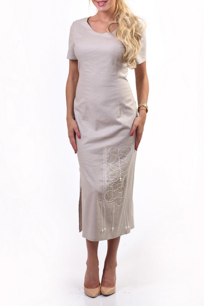 ПлатьеПлатья<br>Платье из 100% льна прямого силуэта с разрезами в боковых швах и коротким рукавом. С круглым вырезом горловины. Изюминка модели – вышивка, которая придает платью неповторимости.В изделии использованы цвета: светло-серыйРостовка изделия 164-170 см.<br><br>Горловина: С- горловина<br>Рукав: Короткий рукав<br>Длина: Миди,Ниже колена<br>Материал: Лен<br>Рисунок: Вышивка,Однотонные<br>Сезон: Лето<br>Силуэт: Полуприталенные<br>Стиль: Летний стиль,Повседневный стиль<br>Элементы: С декором,С разрезом<br>Размер : 48<br>Материал: Лен<br>Количество в наличии: 1