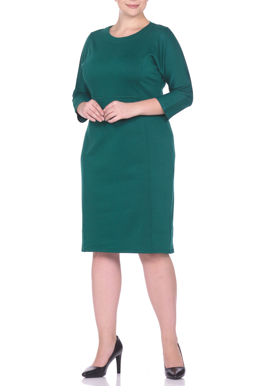 ПлатьеПлатья<br>Платье однотонное, фасона летучая мышь. Основным преимуществом платья является то, что оно украсит женщину с абсолютно любой фигурой. Модели платья с широким верхом в области плеч и узким по бедрам низом идут всем. Все платья такого фасона можно дополнить украшениями, особенно хорошо смотрятся длинные цепочки и ожерелья, оригинальные серьги-подвески и тонкие изящные ремешки, носить которые можно на талии или бедрах. Ткань - плотный трикотаж, характеризующийся эластичностью, растяжимостью и мягкостью.  Длина изделия по спинке 100 см.  В изделии использованы цвета: зеленый  Рост девушки-фотомодели 170 см.<br><br>Горловина: С- горловина<br>По длине: Ниже колена<br>По материалу: Вискоза,Трикотаж<br>По образу: Город,Офис,Свидание<br>По рисунку: Однотонные<br>По силуэту: Приталенные<br>По стилю: Классический стиль,Кэжуал,Офисный стиль,Повседневный стиль<br>По форме: Платье - футляр<br>Рукав: Рукав три четверти<br>По сезону: Осень,Весна,Зима<br>Размер : 50,52,60<br>Материал: Джерси<br>Количество в наличии: 3
