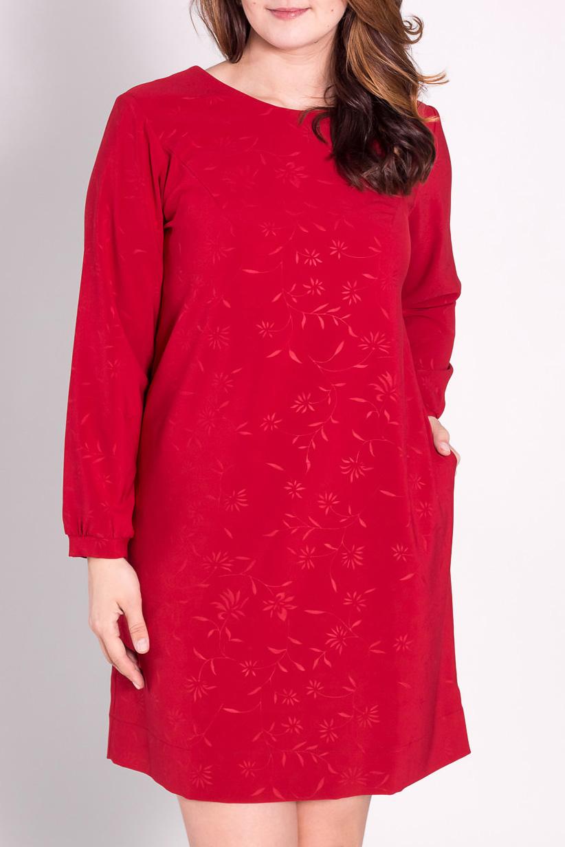 ПлатьеПлатья<br>Яркое платье с круглой горловиной и длинными рукавами. Модель выполнена из плотного материалаю Отличный выбор для любого случая.  Цвет: красный  Рост девушки-фотомодели 180 см<br><br>Горловина: С- горловина<br>По длине: До колена<br>По материалу: Тканевые<br>По рисунку: Однотонные<br>По сезону: Весна,Всесезон,Зима,Лето,Осень<br>По силуэту: Полуприталенные<br>По стилю: Повседневный стиль,Нарядный стиль<br>Рукав: Длинный рукав<br>По форме: Платье - трапеция<br>По элементам: С карманами<br>Размер : 46,50<br>Материал: Костюмно-плательная ткань<br>Количество в наличии: 2