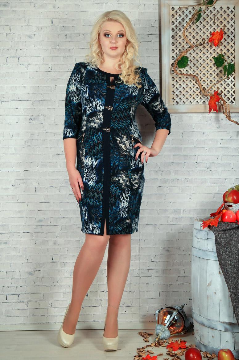 ПлатьеПлатья<br>Цветное платье с фигурной горловиной и рукавами 3/4. Модель выполнена из приятного трикотажа. Отличный выбор для повседневного гардероба. Платье без пояса.  В изделии использованы цвета: черный, синий, белый и др.  Параметры размеров: 44 размер - обхват груди 84 см., обхват талии 72 см., обхват бедер 97 см. 46 размер - обхват груди 92 см., обхват талии 76 см., обхват бедер 100 см. 48 размер - обхват груди 96 см., обхват талии 80 см., обхват бедер 103 см. 50 размер - обхват груди 100 см., обхват талии 84 см., обхват бедер 106 см. 52 размер - обхват груди 104 см., обхват талии 88 см., обхват бедер 109 см. 54 размер - обхват груди 110 см., обхват талии 94,5 см., обхват бедер 114 см. 56 размер - обхват груди 116 см., обхват талии 101 см., обхват бедер 119 см. 58 размер - обхват груди 122 см., обхват талии 107,5 см., обхват бедер 124 см. 60 размер - обхват груди 128 см., обхват талии 114 см., обхват бедер 129 см.  Ростовка изделия 168 см.<br><br>Горловина: С- горловина<br>По длине: До колена<br>По материалу: Трикотаж<br>По образу: Город,Свидание<br>По рисунку: С принтом,Цветные<br>По силуэту: Приталенные<br>По стилю: Повседневный стиль<br>По форме: Платье - футляр<br>По элементам: С декором,С разрезом<br>Разрез: Короткий<br>Рукав: Рукав три четверти<br>По сезону: Осень,Весна<br>Размер : 52<br>Материал: Трикотаж<br>Количество в наличии: 1